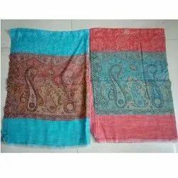 Girisha Printed Wool Shawls In Kani Palla