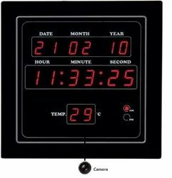 Digital Wall Clock Home Security Camera