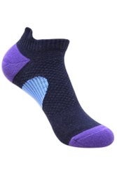 Navy Combed Cotton And Spandex Women Sports Socks, Size: Free