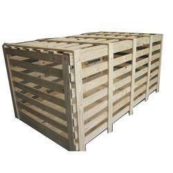 Brown Wooden Crate Box for Packaging, Capacity: 201-400 and 401-600 kg