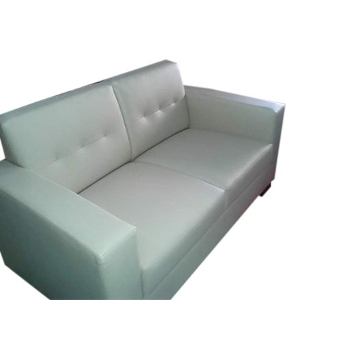 White Leather Two Seater Sofa Rs 16999 Piece Medal India Sofa