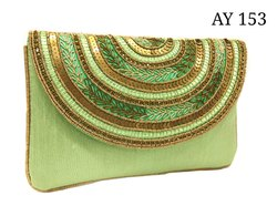 Party Clutch Bag Ladies Ethnic Jardosi Rawsilk Purse AY153