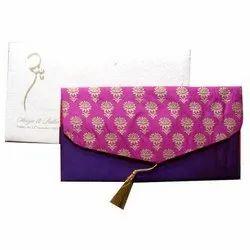 Paper Pull-Out Insert Handmade Silk Invitation