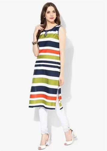 ed4233f27 Aks Multicoloured Striped Kurta at Rs 599  piece