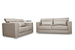 Adorn India Bentley 2 Sofa Set (Grey)