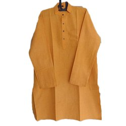 Plain Men Yellow Kurta