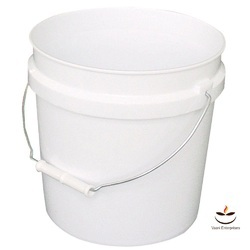 Milky White And White Plastic Paint Buckets 4f5243971c7