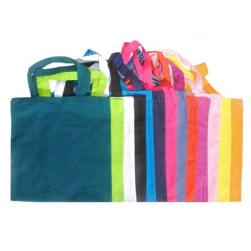 Plain Green Colored Cotton Bags