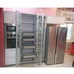 Silver Stainless Steel Kitchen Cabinet