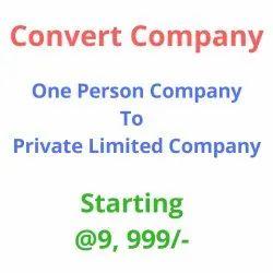 Convert OPC To  Pvt Ltd Company