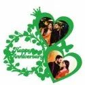 Heart Shape Sublimation Wooden Wall Frame