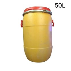 VLX Enterprises Yellow Plastic Storage Drums, Capacity: 50L
