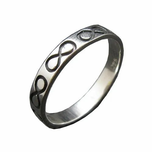 Handmade Ring Double Band Artisan India Stacking Cage Fusion Sterling Silver 925 Mystic Stackable Rajasthan