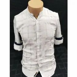 Full Sleeves Casual Wear Cotton Checked Casual Shirts, Machine wash