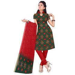 Green Designer Bandhani Suit