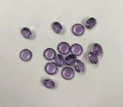 Natural Amethyst Faceted Round Loose Gemstone