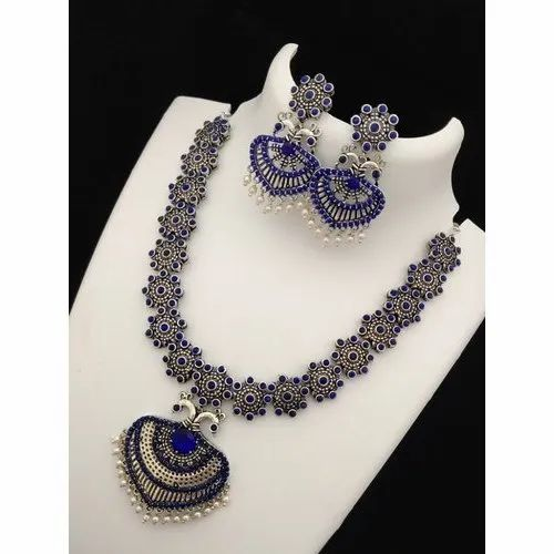 American Diamond Necklace Set At Rs 300