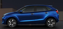 Blue Maruti Suzuki New Baleno Car
