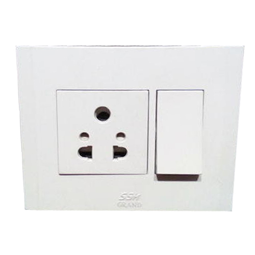 white home electrical switchboard, rs 21 piece, arora lighting