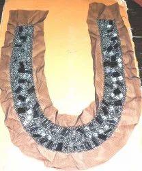 Charismatic Beaded & Sequins Neckline