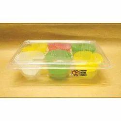 6 Cavity Plastic Cupcake Boxes