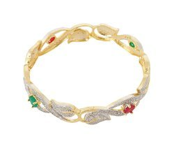 American Diamond Gold Plated Bangle For Women And Girls