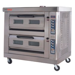 Electric Double Deck Oven Digital With Steam