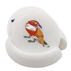 Marble Coaster Bird Design