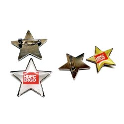 Pin Badge Golden politicals metal badgs for corporate, Packaging Type: Aky Kind Of Yuors Need, for Events