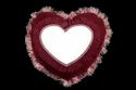 Sublimation Printable Blank Velvet Cushion With Heart Shape Personalized Fur Pillow