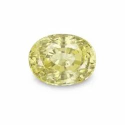 GII Certified Natural Yellow Sapphire Unheated Untreated Aaa  Quality