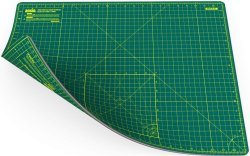 A2 Double Sided Cutting Mat Imperial/Metric 24 Inch X 18 Inch / 45cm X 60cm - Green / Green