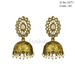 Mehendi Polish Jhumka Earrings