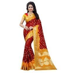 Women's  Bandhani Saree