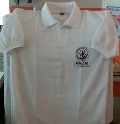 Cotton White ASDM T-Shirts