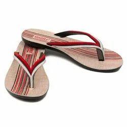 Women White Red PVC Fashion Slippers