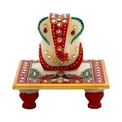 Embossed Chowki with Lord Ganesh