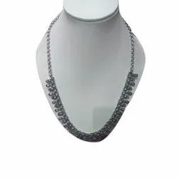 Party Wear Ladies Silver Necklace, 20.30 Gm