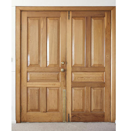 Wood Hinged Wooden Double Door, Rs 180 /foot Govind Timber ...
