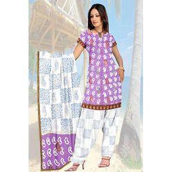 Purple Bandhani Suit