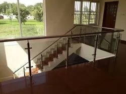 Square Baluster Glass Handrails
