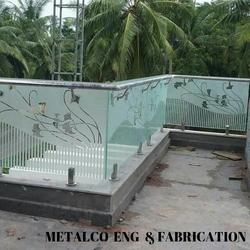SS Glass Railing, For Industrial