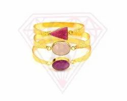 Gold Plated Gemstone Bangles