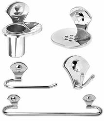 Doyours 5 Pieces Bathroom Accessories Set - Stainless Steel, Glossy finish