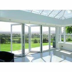 Aluminium ( Frame) Aluminum Folding Door, For Home, Interior