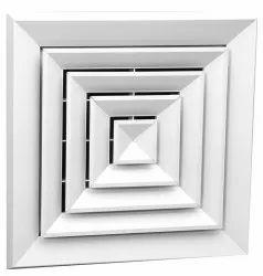 Plastic Aluminum Diffusers for Industrial, Shape: Square