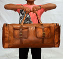 Leather Duffel Bag, Travgel Bag, Overnight Bag, Weekender, Handmade Leather Ba