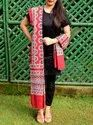Ladies Rayon Cotton Scarf - Ajrakh Print Cotton Stole - Party wear stole