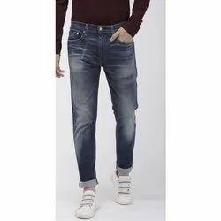 Party Wear Button Mens Faded Denim Jeans, Waist Size: 28-36