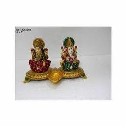 Meenakari Laxmi Ganesha Statue